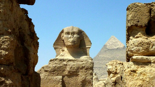 The Legendary Sphinx at Giza in Egypt