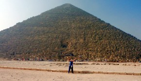 Woo-hoo! I finally made it to the legendary pyramids at Giza in Egypt!
