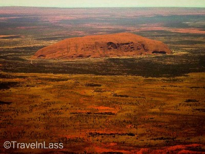 Arial view of Uluru / Ayers Rock, Australia