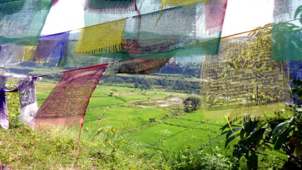 View from one of the nearby Tibetan refugee villages