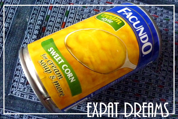 Foto Flip Friday Postcard Front August 2014 Theme: Yellow - Canned Cream Corn