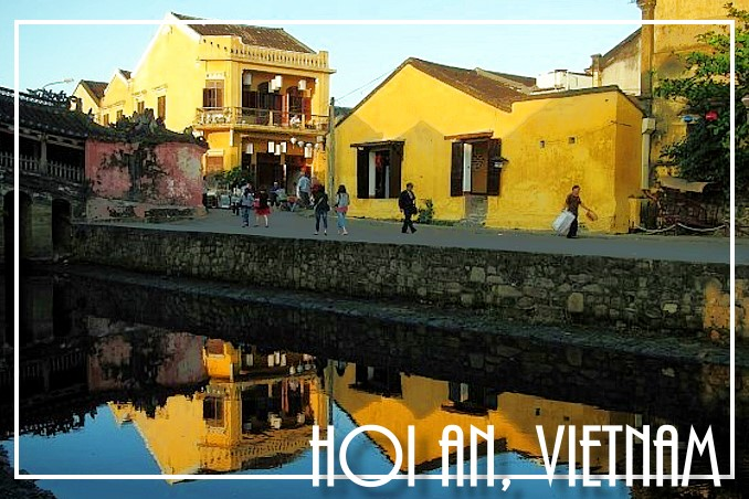 Foto Flip Friday Postcard Front August 2014 Theme: Yellow - FourLetterNerd, Hoi An, Vietnam