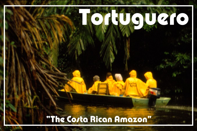 Foto Flip Friday Postcard Front August 2014 Theme: Yellow - My 'office' Tortuguero, Costa Rica