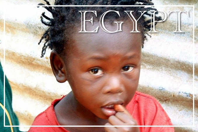 Foto Flip Friday Postcard Front September 2014 Theme: Children of the World - Egyptian Child in Red Postcard Front