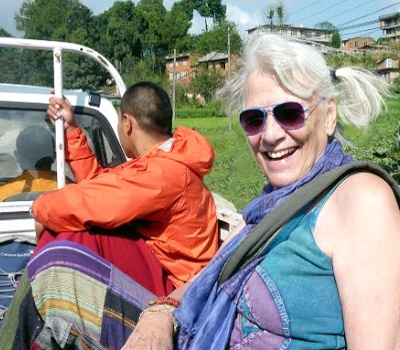Hitching a rid with monks in Nepal
