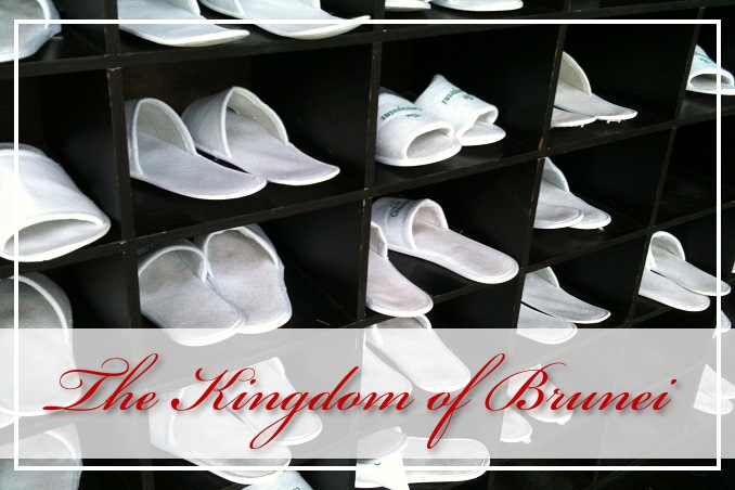 Foto Flip Friday March 2015 Theme: White - Brunei Slippers Postcard photo Front