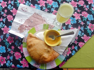 Delish empanada - cheapest item on Easter Island - glad I brought a stash of my own snacks.