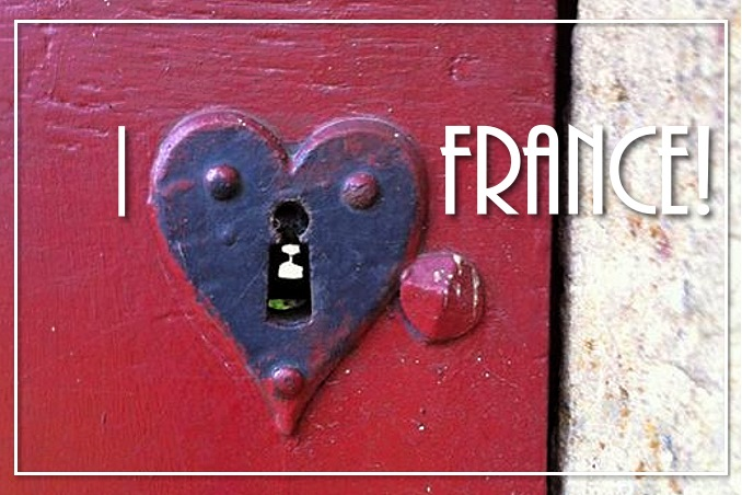 Foto Flip Friday June 2015 Theme: Red - Ronni's I Love France Postcard photo Front