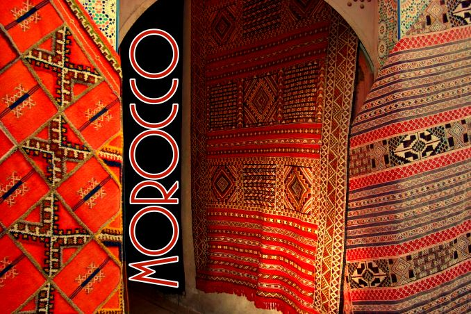Foto Flip Friday June 2015 Theme: Red - Moroccan Rugs Postcard photo Front