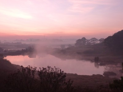 Sunrise at L'Auberge Ami in Dalat, Vietnam