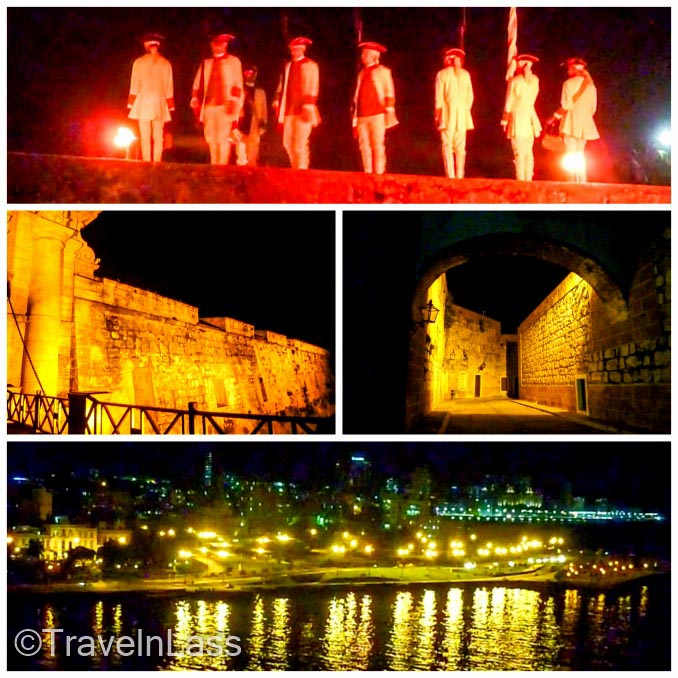 Collage of the nightly canon ceremony in Havana, Cuba