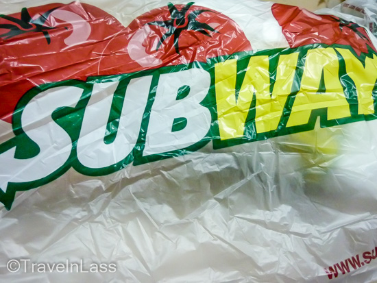 Thanksgiving 2012: a Subway turkey sandwich en route from Thailand to Myanmar