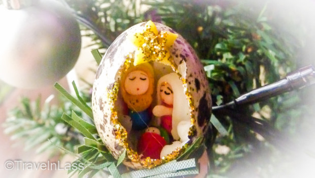 Quail egg Miniature Nativity