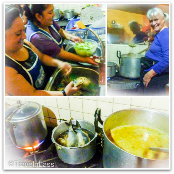 Cooking up a pot of fanesca, Cuenca, Ecuador