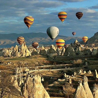 Ballooning in Cappadocia, Turkey: on the bucket list for my adventure in the Balkans.