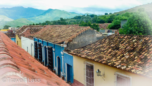 Red-tiled roof top of Trinidad, Cuba