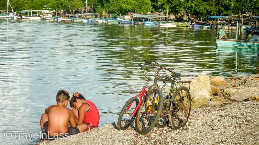 Kids and bicycles - it's the same all over the world. Playa Boca, Cuba