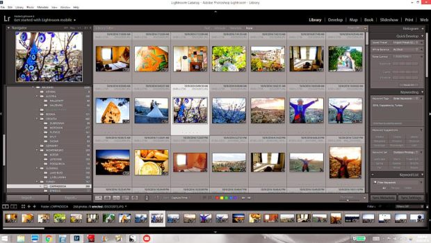My (beloved) Adobe Lightroom 6 Library interface