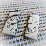 """Time"" to travel! earrings from Zadar, Croatia"