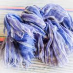 Plaid scarf souvenir of Zadar, Croatia