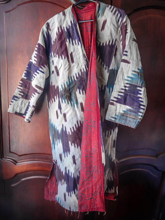 My luscious silk ikat coat from Turkey