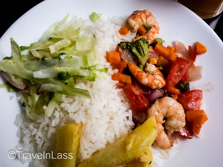 "A delicious shrimp ""almuerzo"" ($2.50 fixed price lunch), Cuenca, Ecuador"