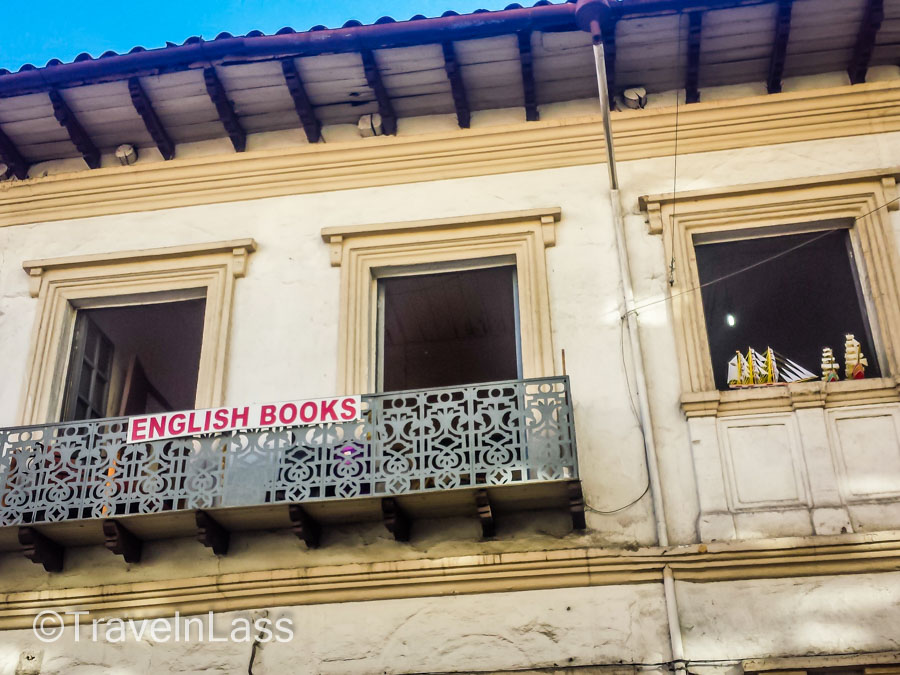 Could it be? A rare sighting of an English bookstore in Cuenca, Ecuador