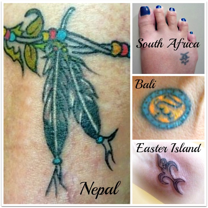 My tattoo collection: South Africa, Bali, Nepal and Easter Island
