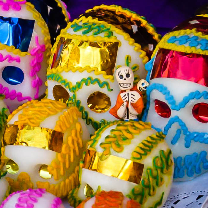 Mexico Day of the Dead Sugar Skulls.