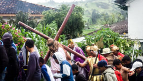 Good Friday Crucifiction procession in Jima, Ecuador