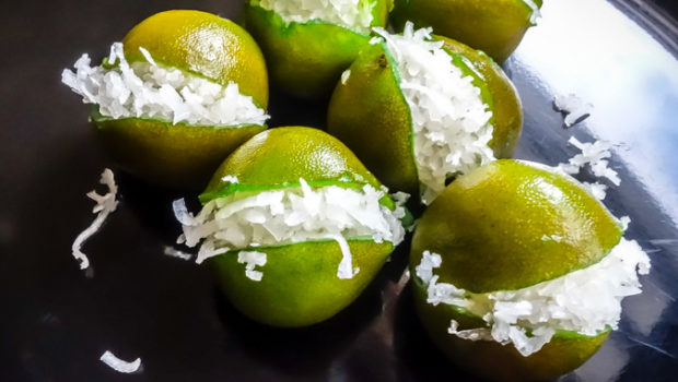 Frida Kahlo's favorite sweet: Mexican Coconut-Stuffed Limes