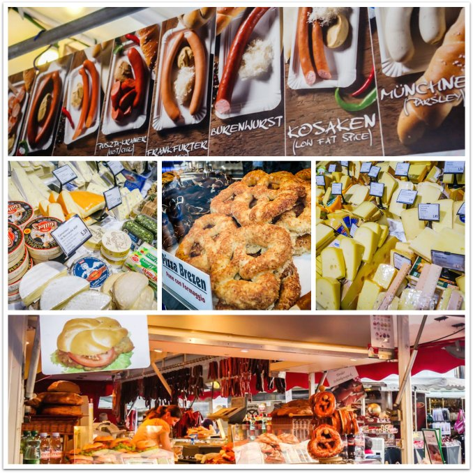 "Salzburg, Austria - all manner of yummy ""wursts"" and cheeses."