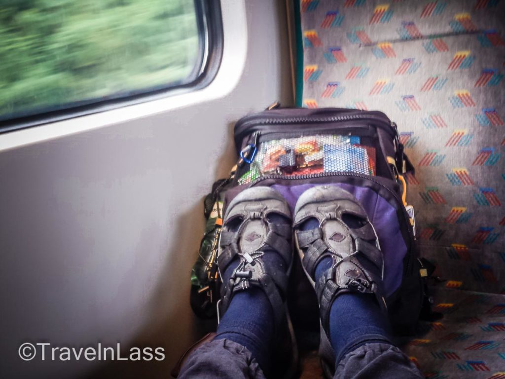 "A ""Traveln Toes"" photo - whizzing on the train from Salzburg, Austria to Motovun, Croatia"