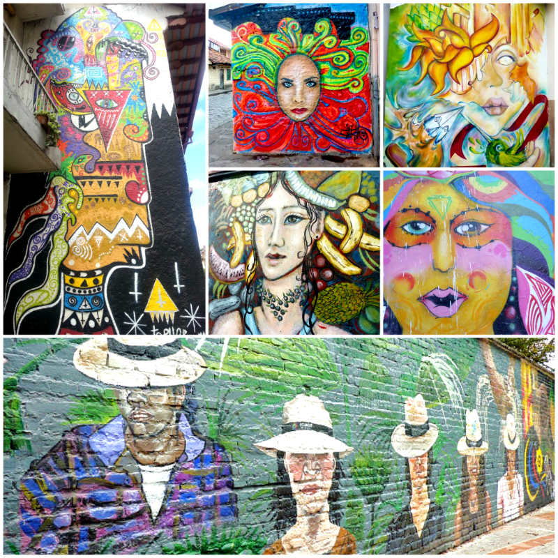 Sample of street art around Cuenca, Ecuador.