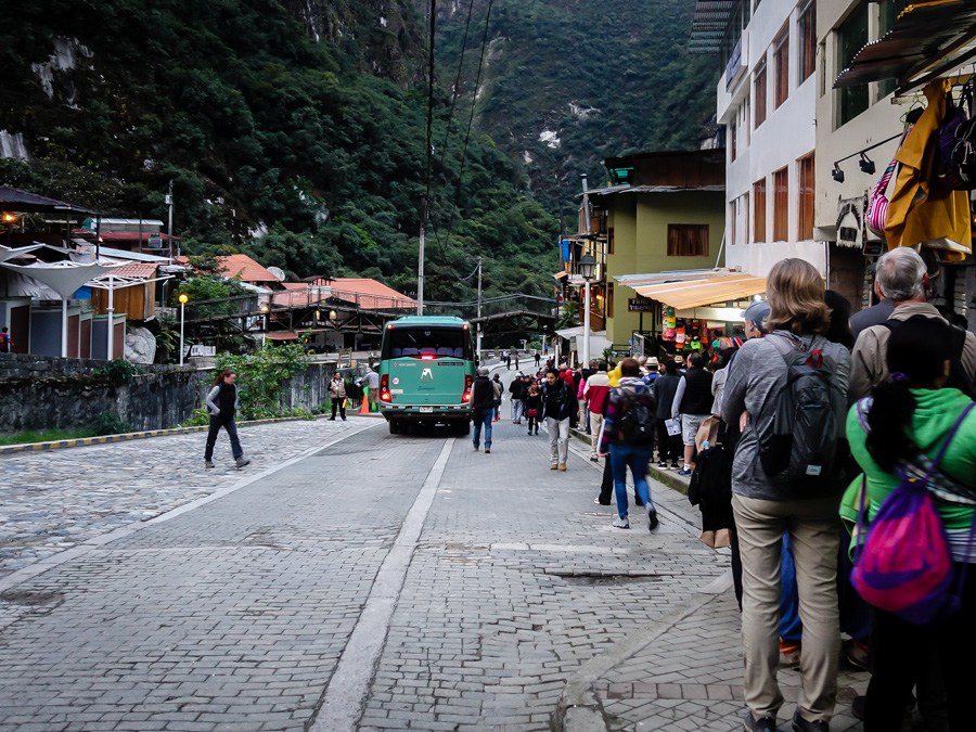 Yeah - even at 4:45 am, the line for the bus up to Machu Picchu was lonnng!