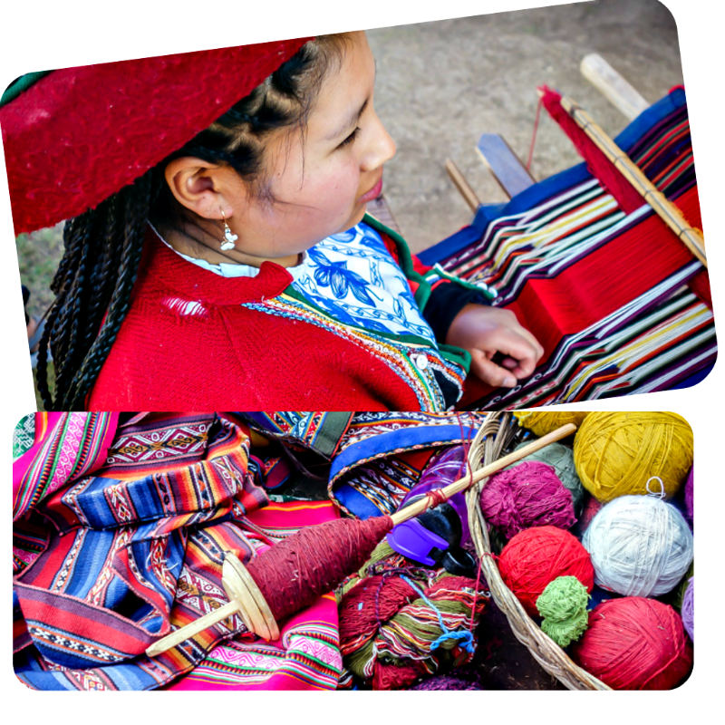 Traditional weaving at the Interpretation Center of Andean Textiles, Chinchero, Peru