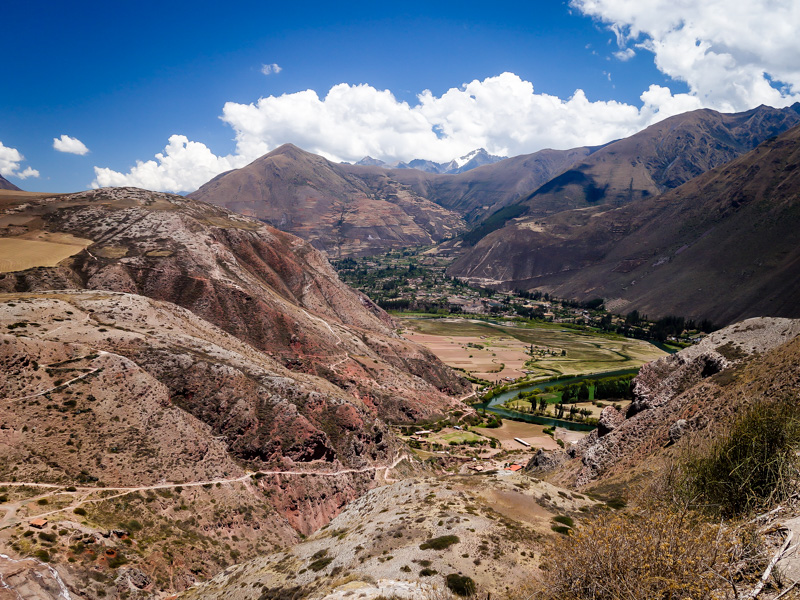 The stunning Sacred Valley in Peru.